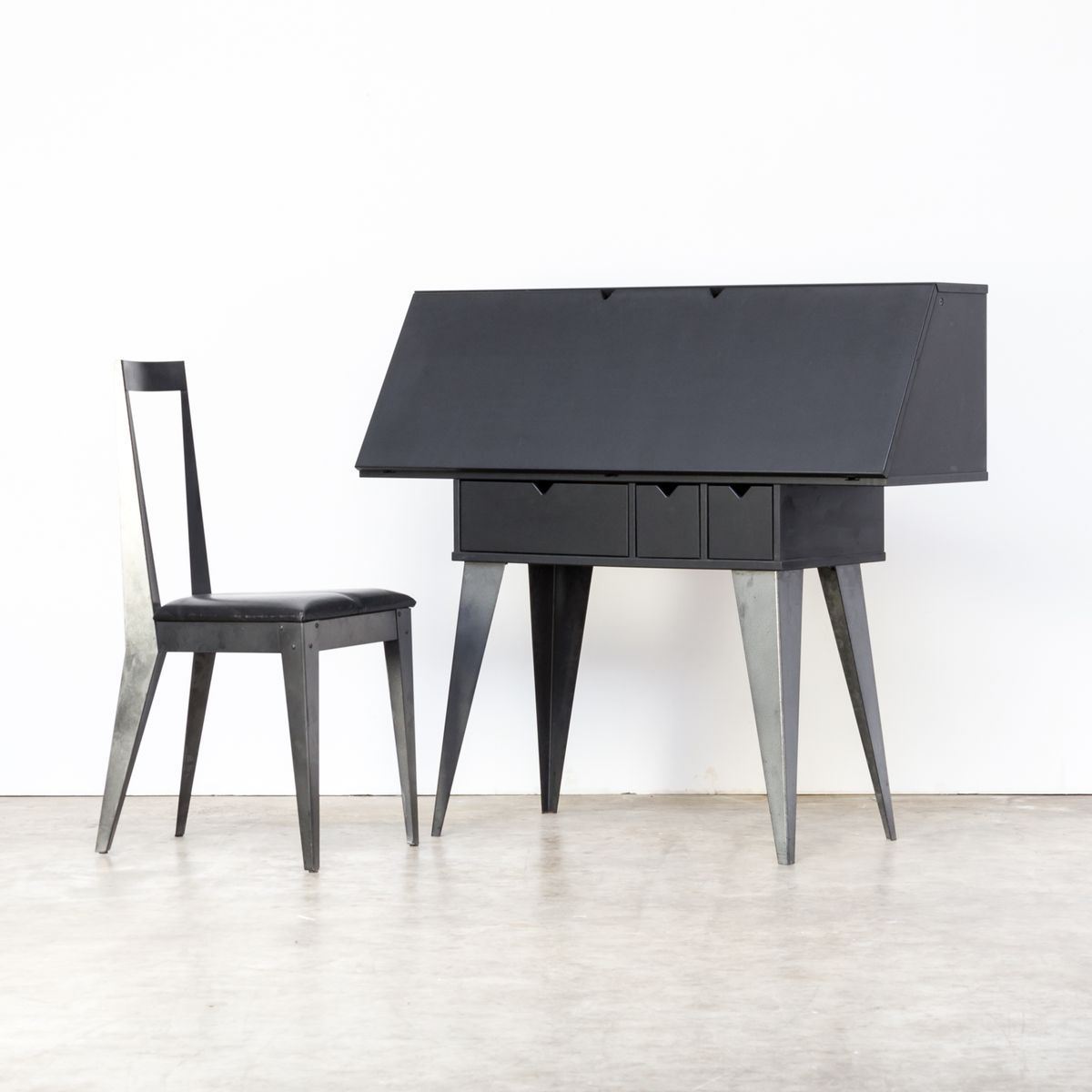 secretaire and chair by tjord bj rklund for ikea 1990s for sale at pamono. Black Bedroom Furniture Sets. Home Design Ideas