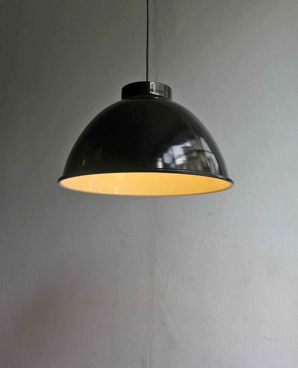 Large Industrial Black Pendant Lamp