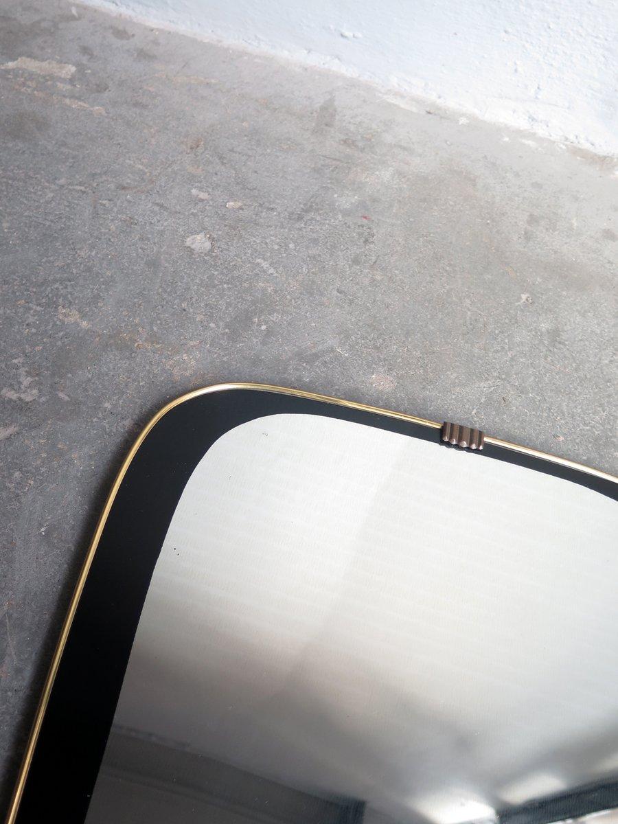 spiegel mit schwarz bemaltem rahmen goldenem rand 1950er bei pamono kaufen. Black Bedroom Furniture Sets. Home Design Ideas