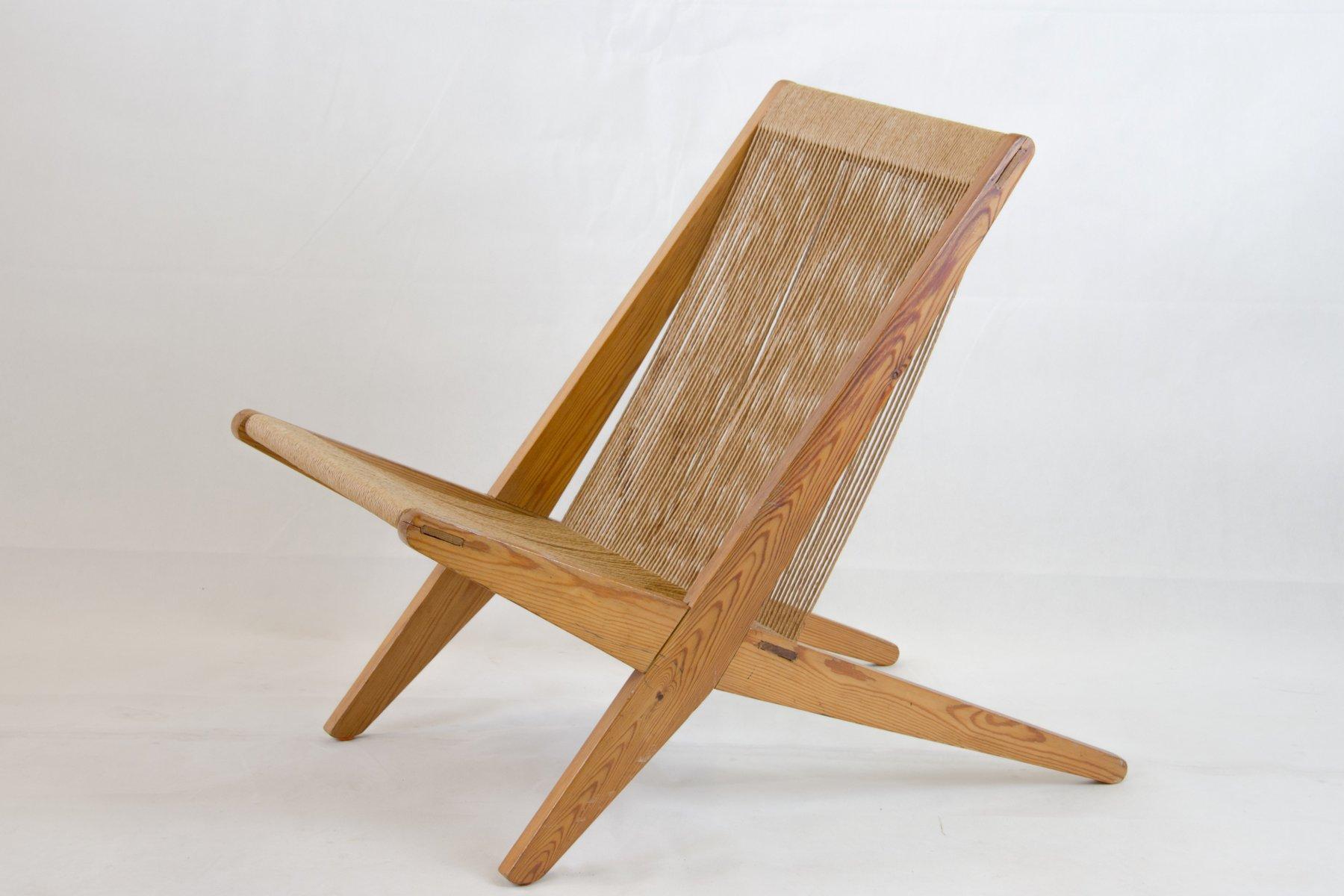 kiefernholz stuhl mit papierkordel bespannung bei pamono kaufen. Black Bedroom Furniture Sets. Home Design Ideas