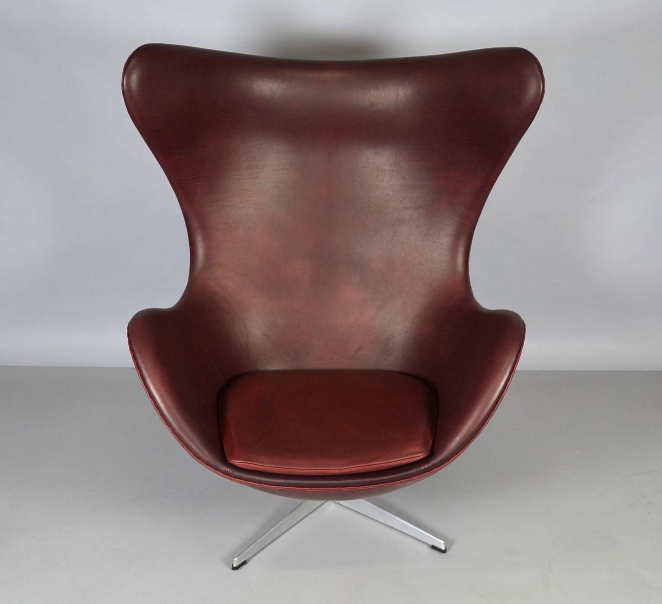 Egg Chair Aus Leder Von Arne Jacobsen Fr Fritz Hansen With Egg Chair Leder