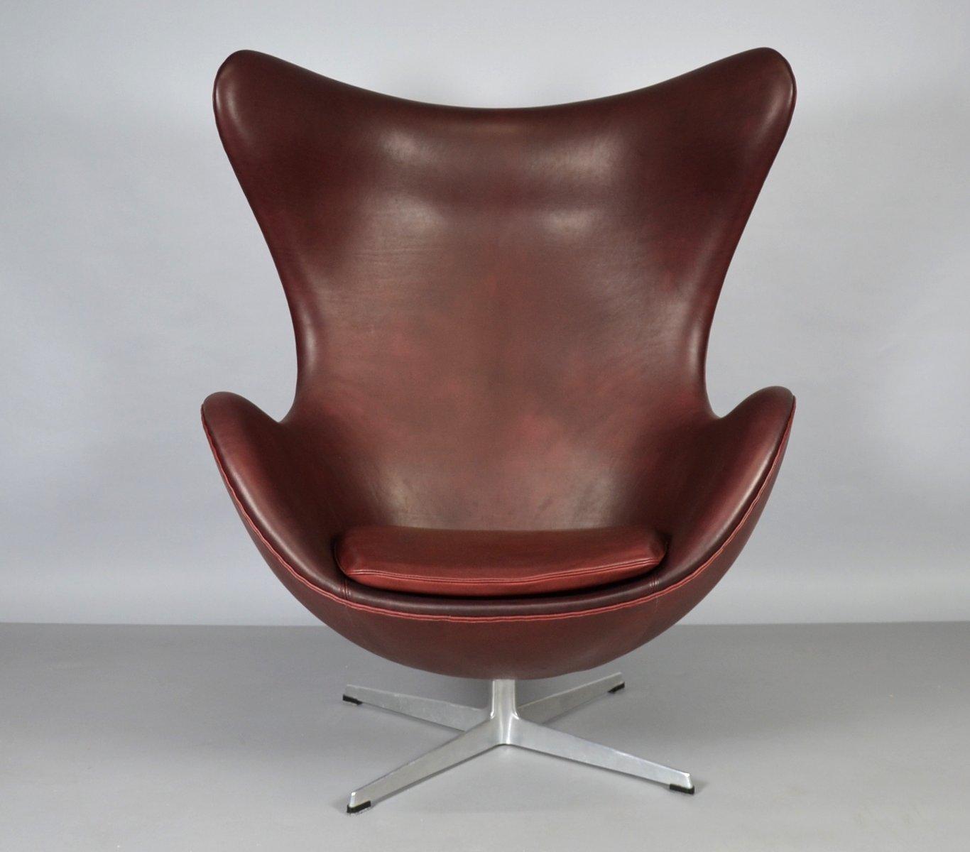 Lovely Leather Egg Chair #12 - Leather Egg Chair By Arne Jacobsen For Fritz Hansen, 1965