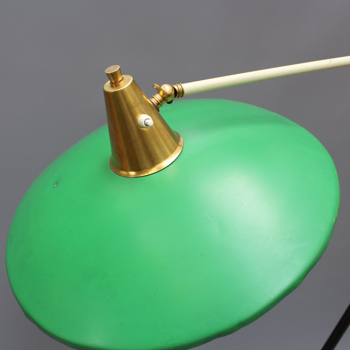Italian articulating floor lamp with green shade from stilux milano price 222000 regular price 264100 aloadofball Images