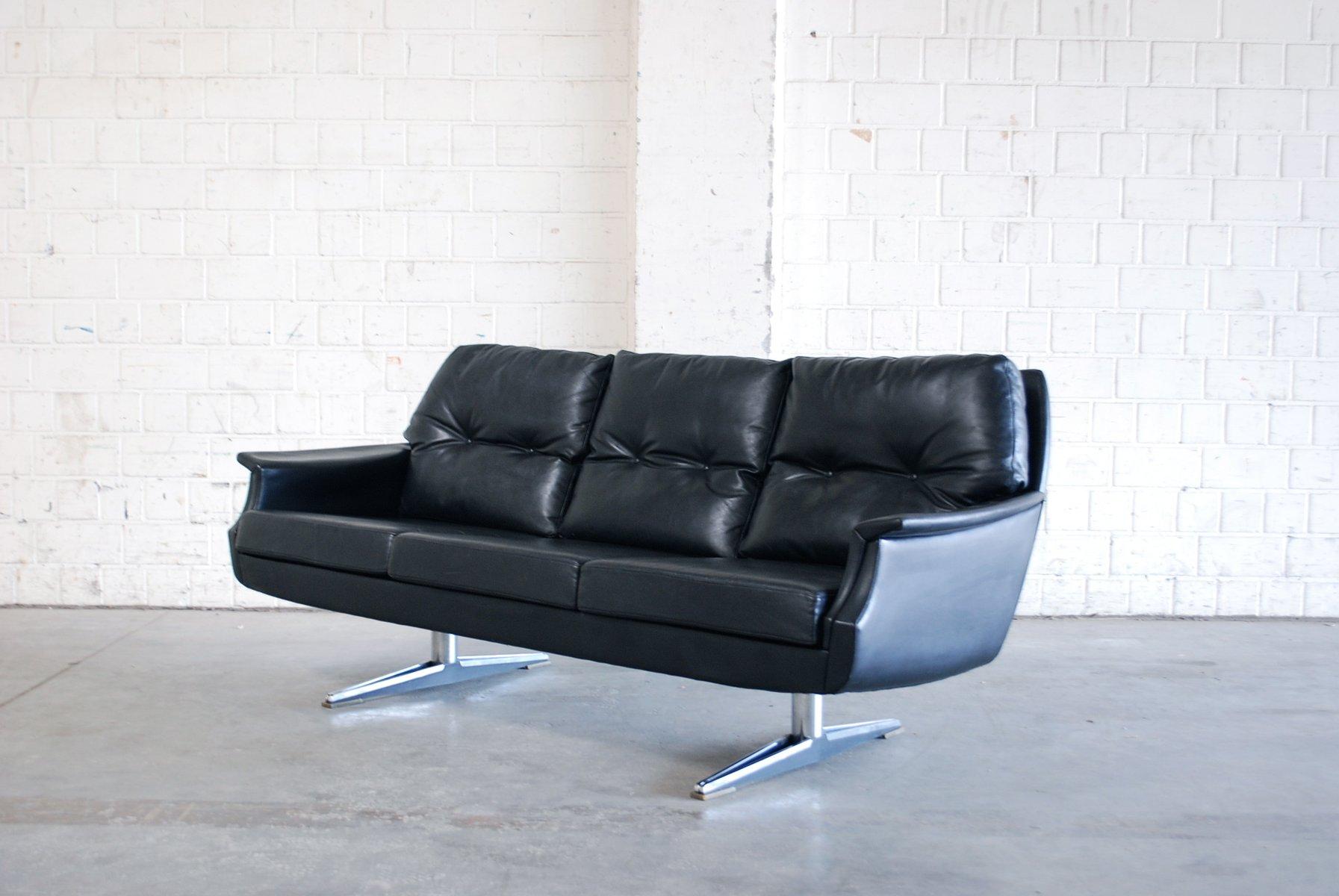 vintage leder sofa 1970er bei pamono kaufen. Black Bedroom Furniture Sets. Home Design Ideas