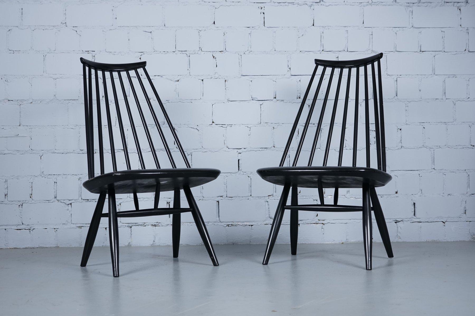 schwarze mademoiselle st hle von imari tapiovaara f r asko. Black Bedroom Furniture Sets. Home Design Ideas