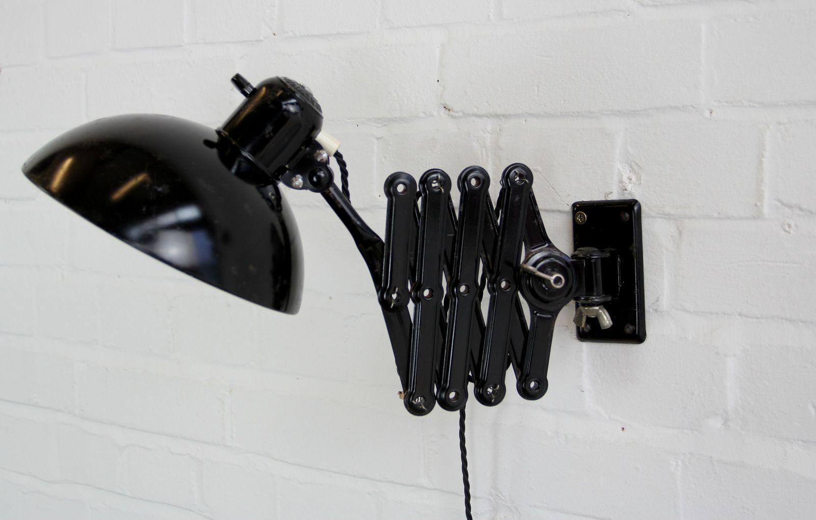 Model 6718 Industrial Scissor Lamp By Christian Dell For