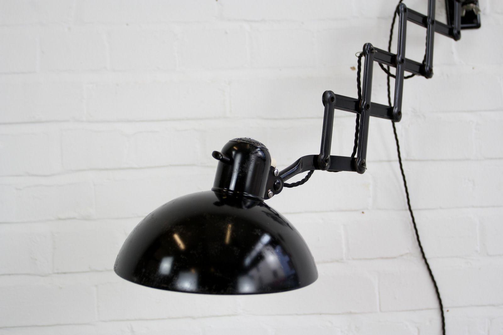 industrielle modell 6718 scherenlampe von christian dell. Black Bedroom Furniture Sets. Home Design Ideas