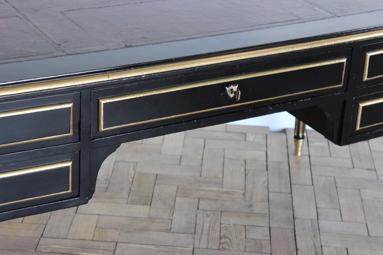 Bureau louis xvi noir bureau style louis xvi en bois noirci bois
