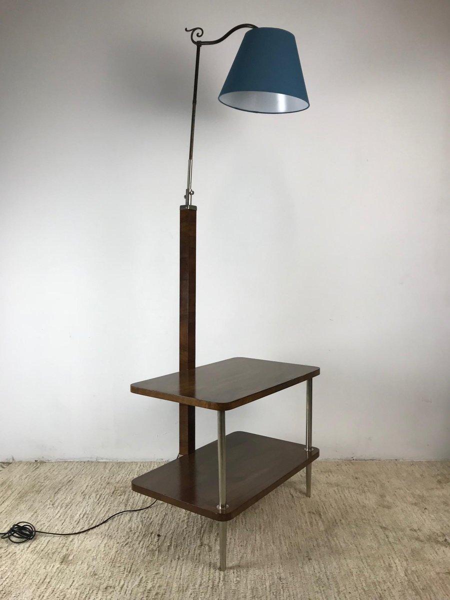 verstellbare vintage stehlampe mit ablage 1930er bei. Black Bedroom Furniture Sets. Home Design Ideas
