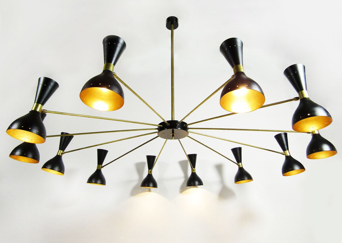 Vintage italian large 24 light chandelier for sale at pamono vintage italian large 24 light chandelier arubaitofo Image collections