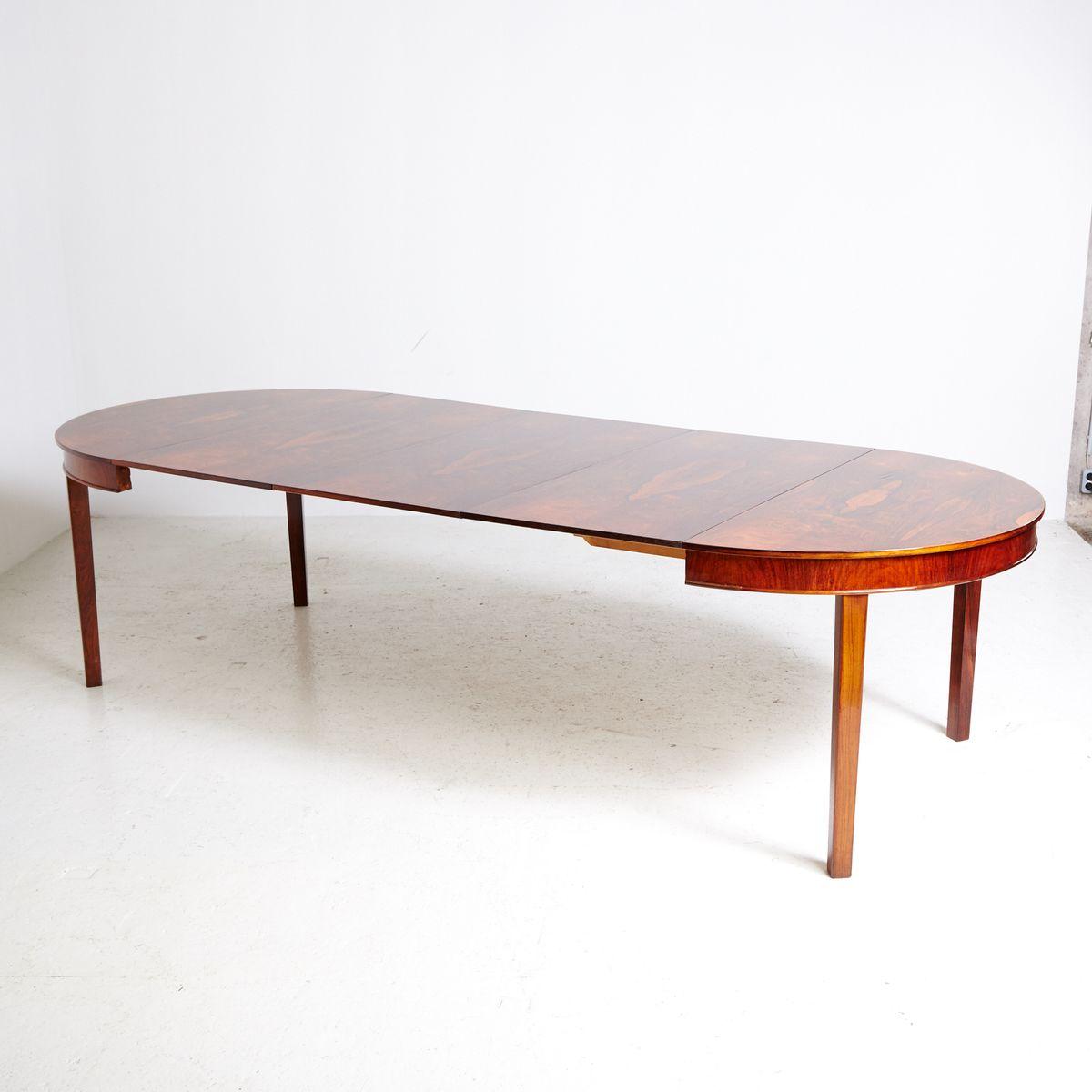 gro er palisander esstisch 1960er bei pamono kaufen. Black Bedroom Furniture Sets. Home Design Ideas