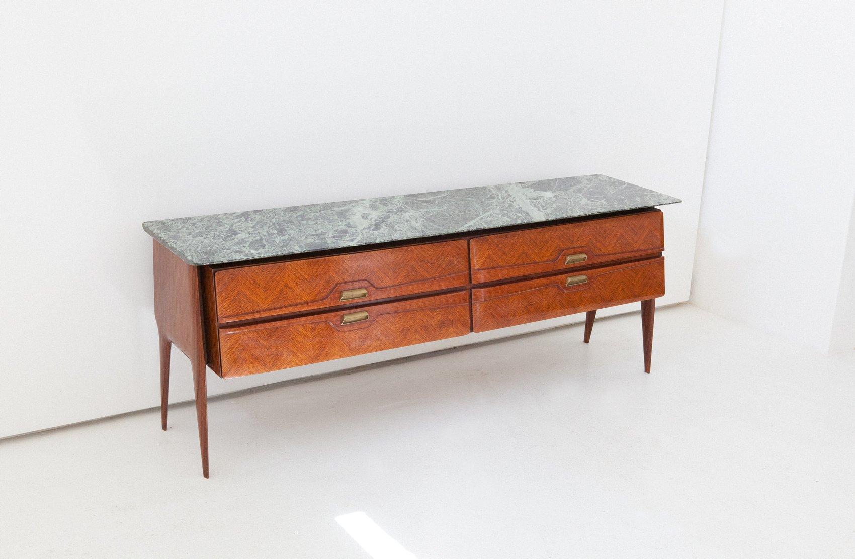 Italienische mid century kommode mit marmorplatte 1950er for Italienische stil kommode