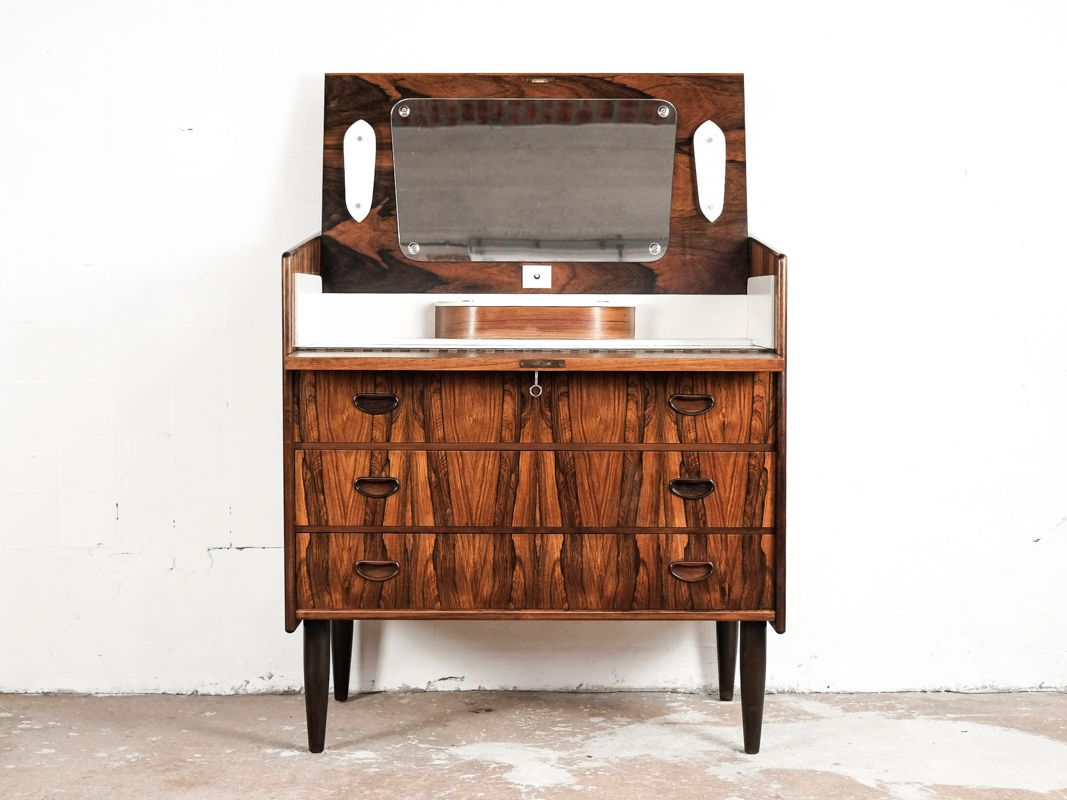 Rosewood Chest Of Drawers Dressing Table 1960s