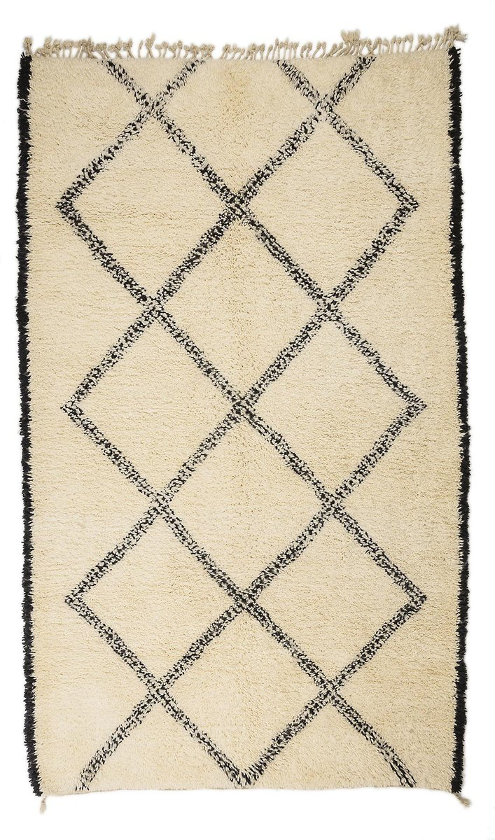 contemporary moroccan berber carpet from beni ouarain for. Black Bedroom Furniture Sets. Home Design Ideas