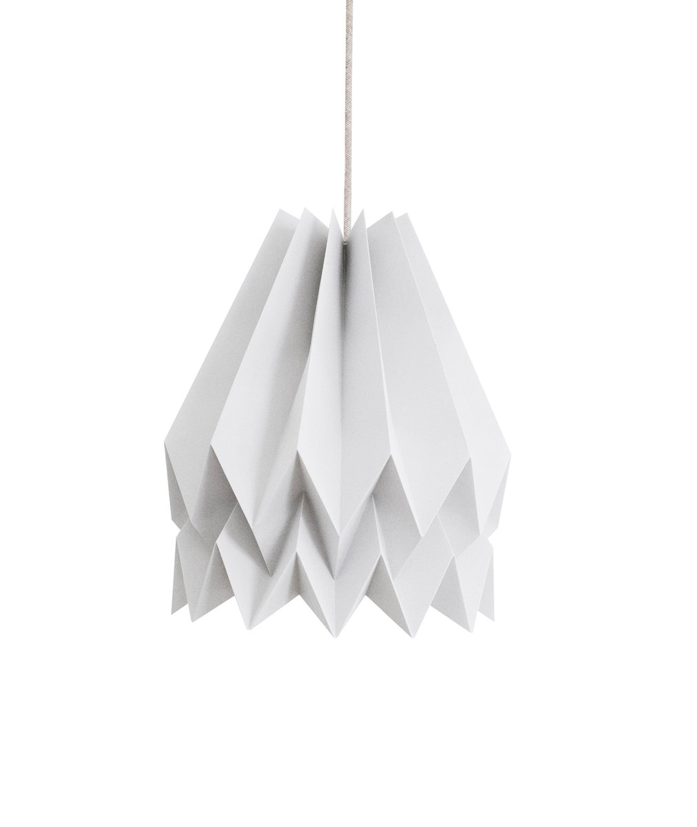 Light Grey Origami Lamp By Orikomi