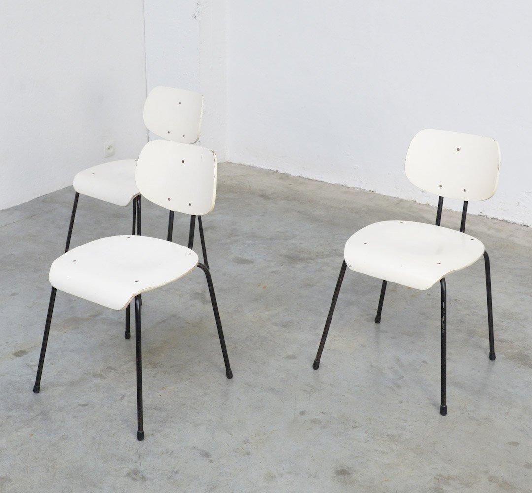 mid century stuhl in schwarz wei von willy van der meeren f r tubax bei pamono kaufen. Black Bedroom Furniture Sets. Home Design Ideas