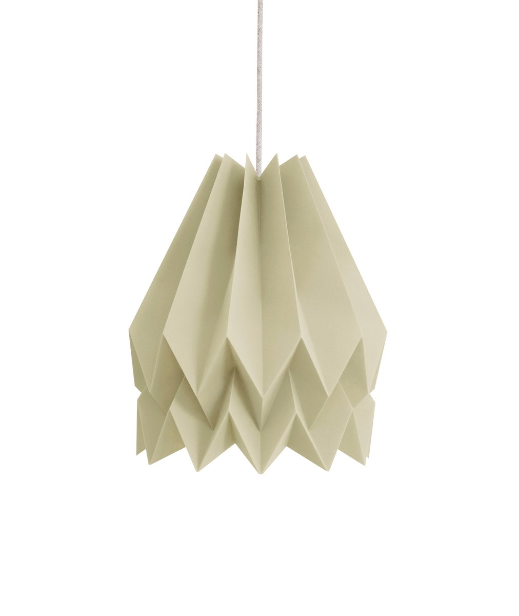 Light Taupe Origami Lamp By Orikomi