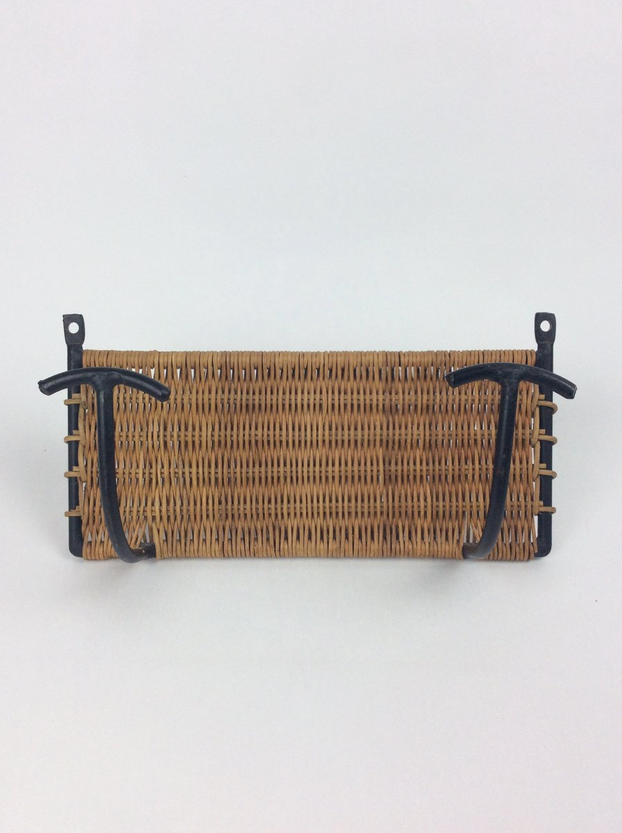 Garderobe aus geflecht von mathieu mat got 1950er bei - Garderobe rattan ...