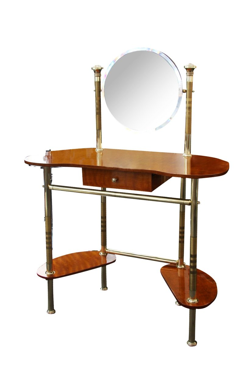 italian wood furniture. Mid-Century Italian Brass \u0026 Wood Dressing Table Furniture S