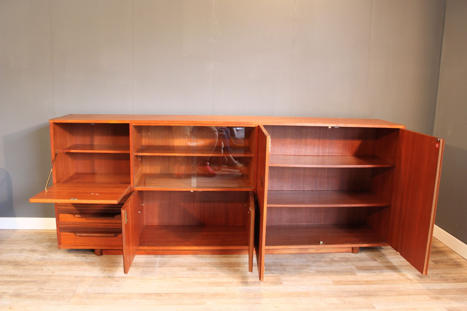 teak sideboard from musterring international 1950s for sale at pamono. Black Bedroom Furniture Sets. Home Design Ideas