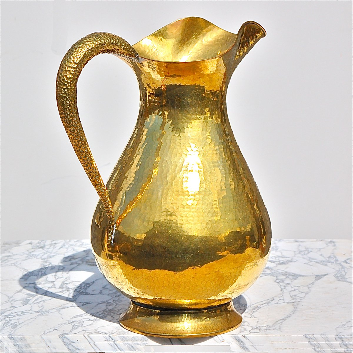 Italian large hammered brass vase 1950s for sale at pamono italian large hammered brass vase 1950s reviewsmspy
