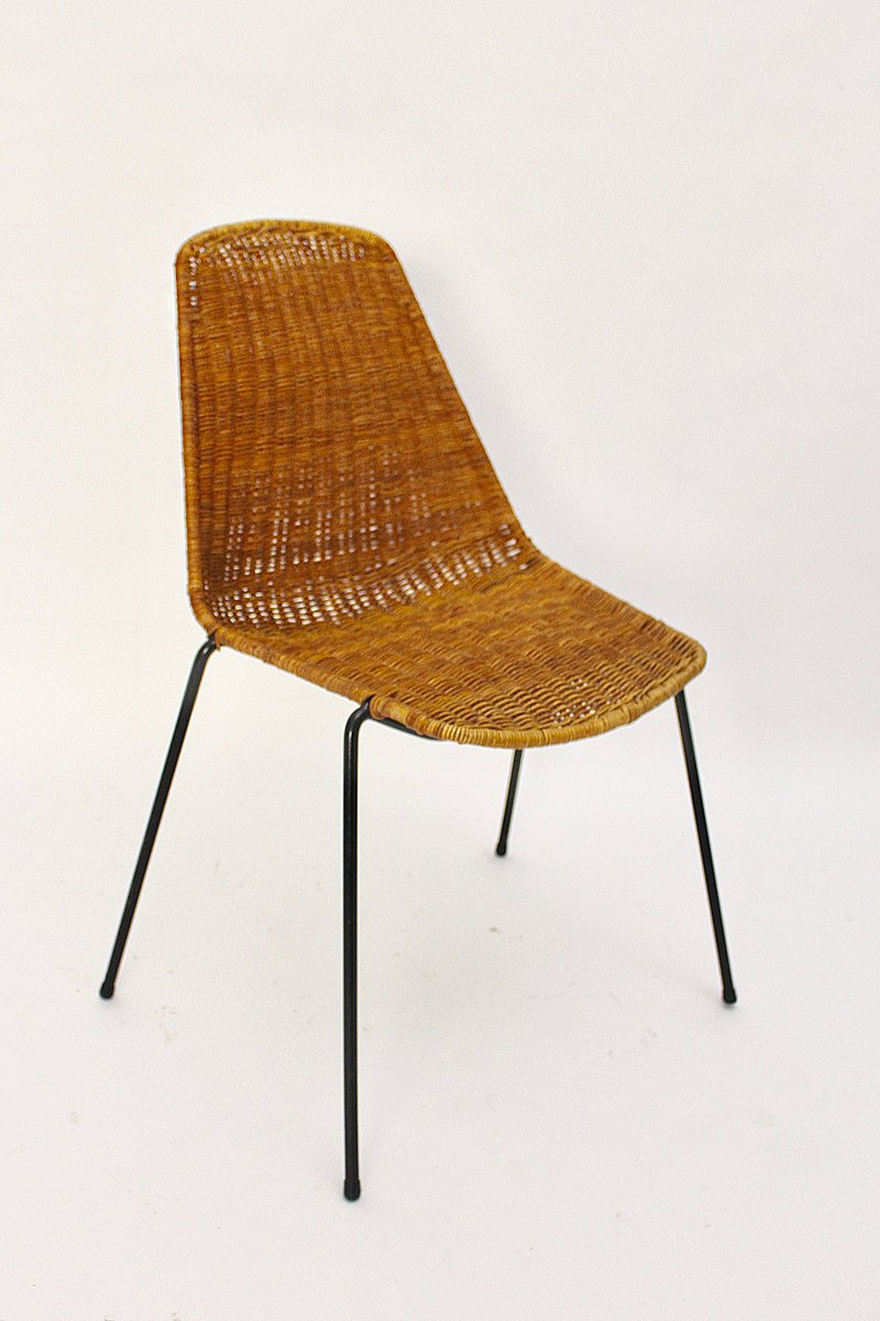 Mid Century Modern Wicker Chair By Gian Franco Legler, 1951