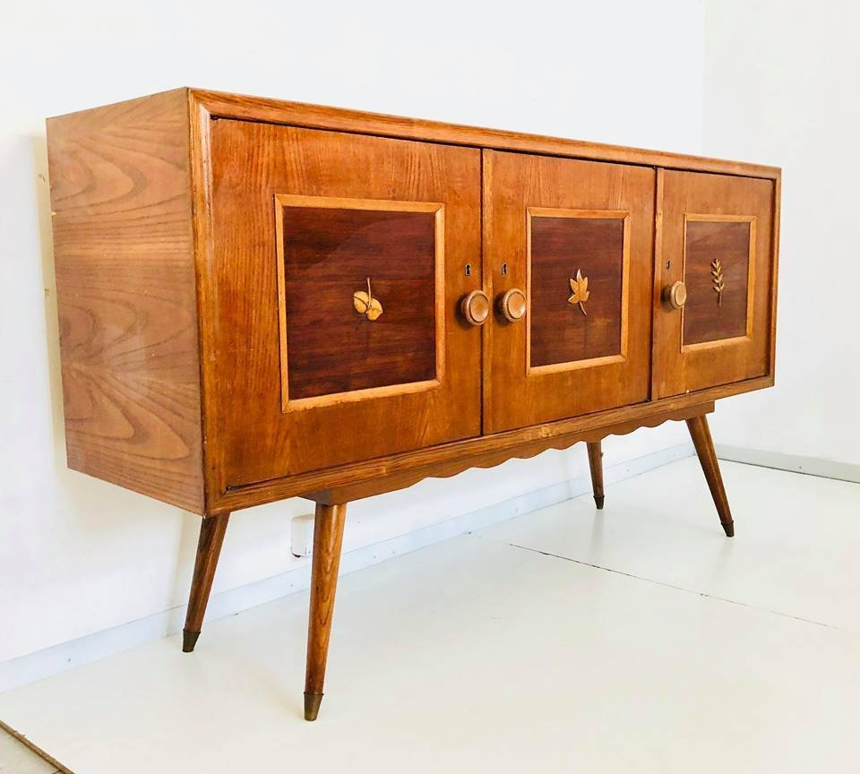 italienisches mid century sideboard 1950er bei pamono kaufen. Black Bedroom Furniture Sets. Home Design Ideas
