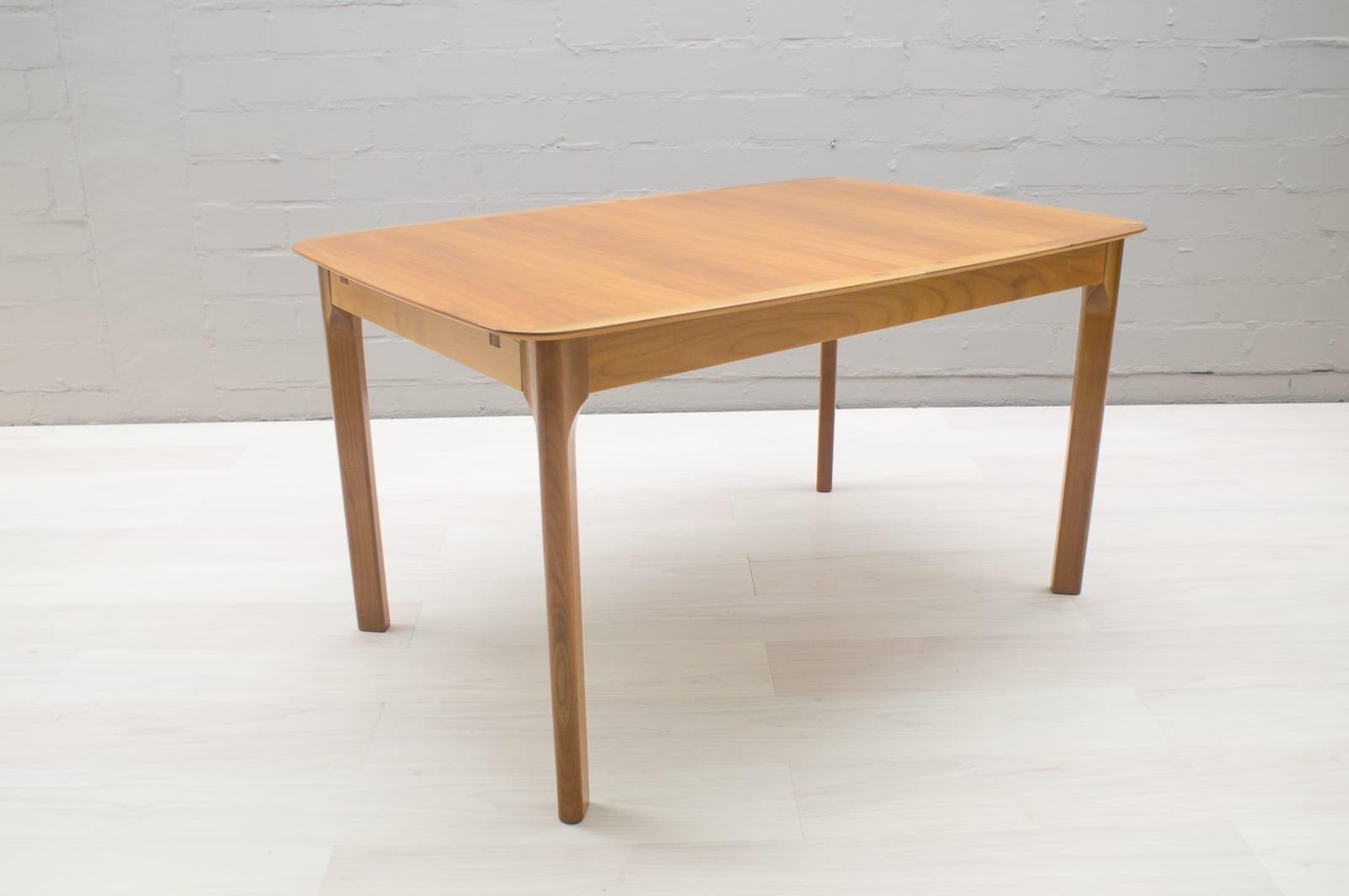 Mid Century Extendable Walnut Veneer Dining Table 1960s