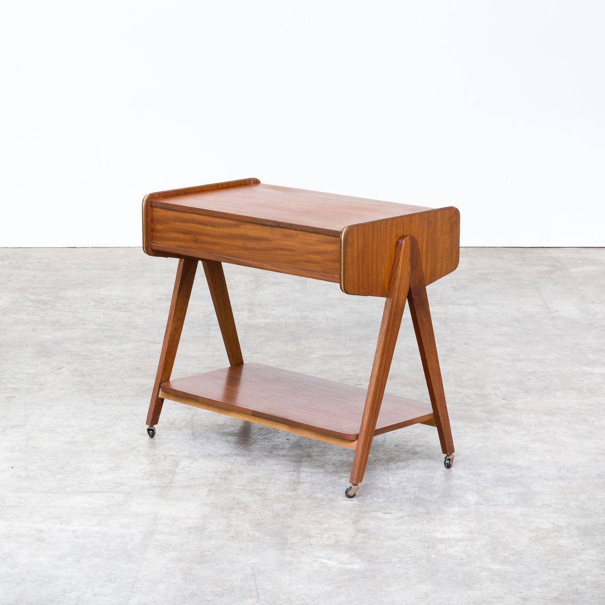 teak servierwagen 1960er bei pamono kaufen. Black Bedroom Furniture Sets. Home Design Ideas