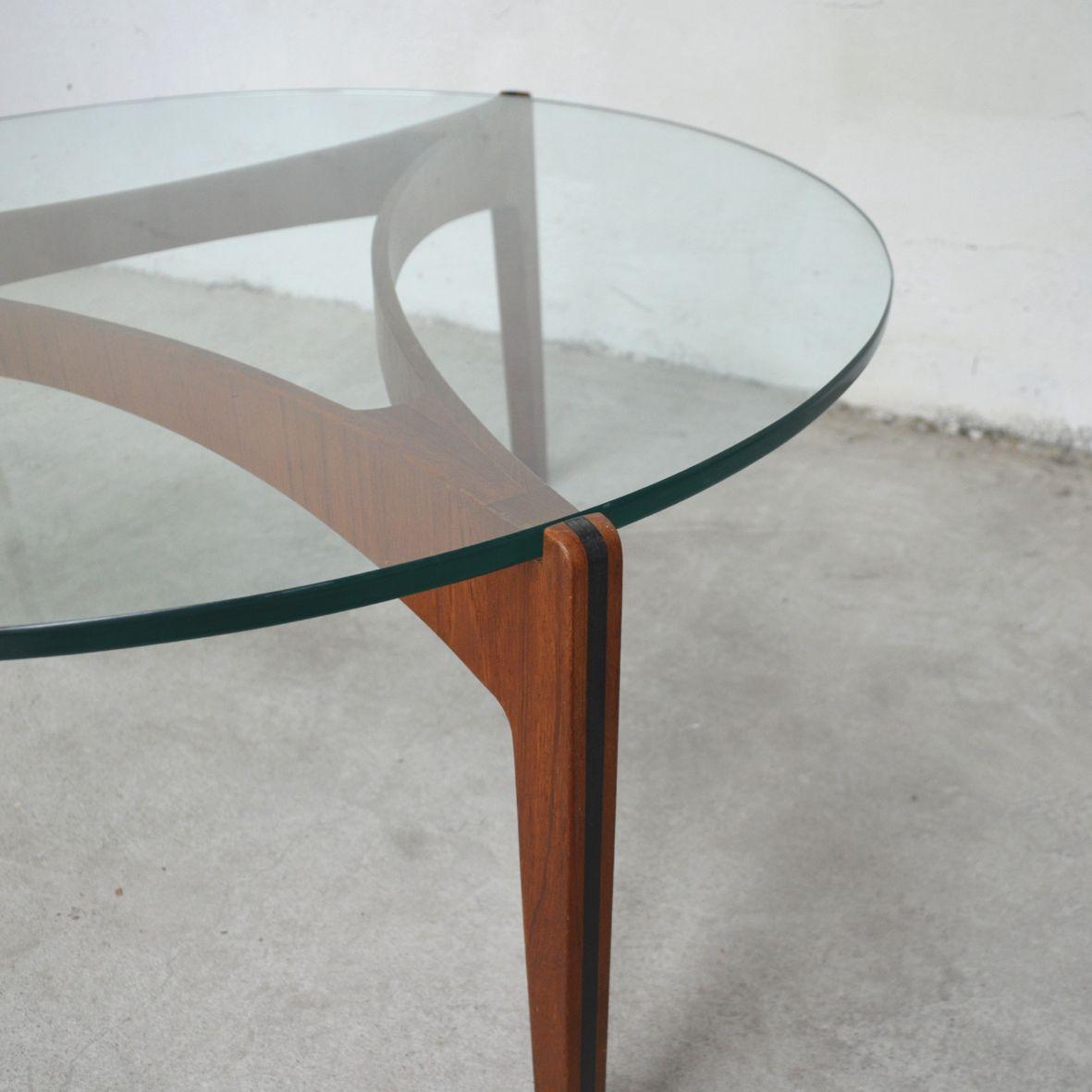 Danish coffee table in teak ebony glass 1960s for sale for Table 6 handbook 44