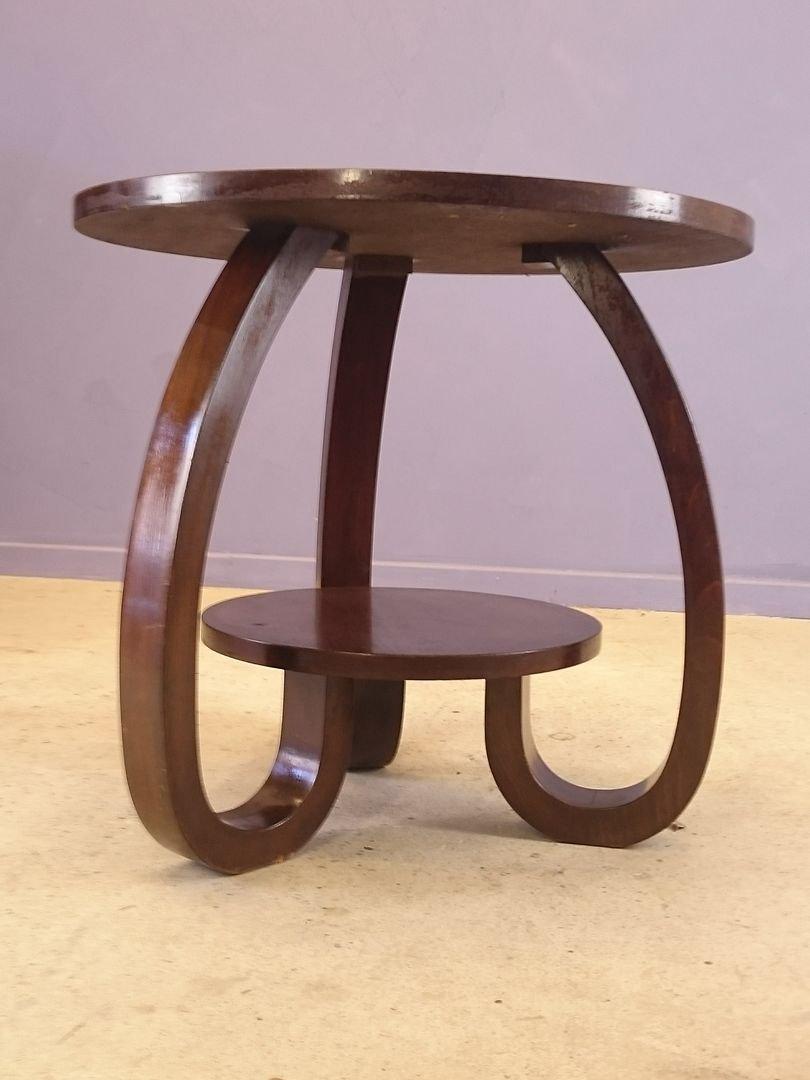 Vintage Art Deco Pedestal Table