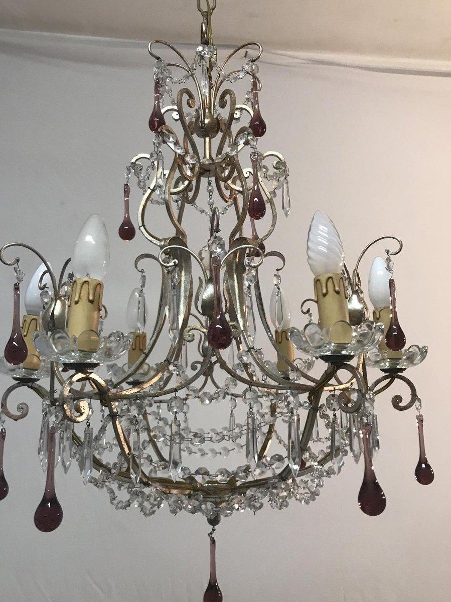Italian murano glass chandelier 1960s en venta en pamono 59000 aloadofball Gallery