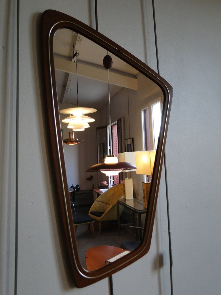 Hallway set with mirror and shelf from aksel kjersgaard for Hallway mirror and shelf