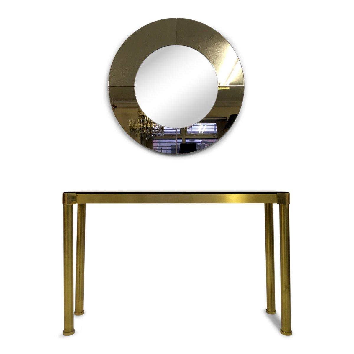 Konsolentisch mit spiegel konsolentisch mit spiegel conforma aus teak italienischer messing - Konsolentisch mit spiegel ...