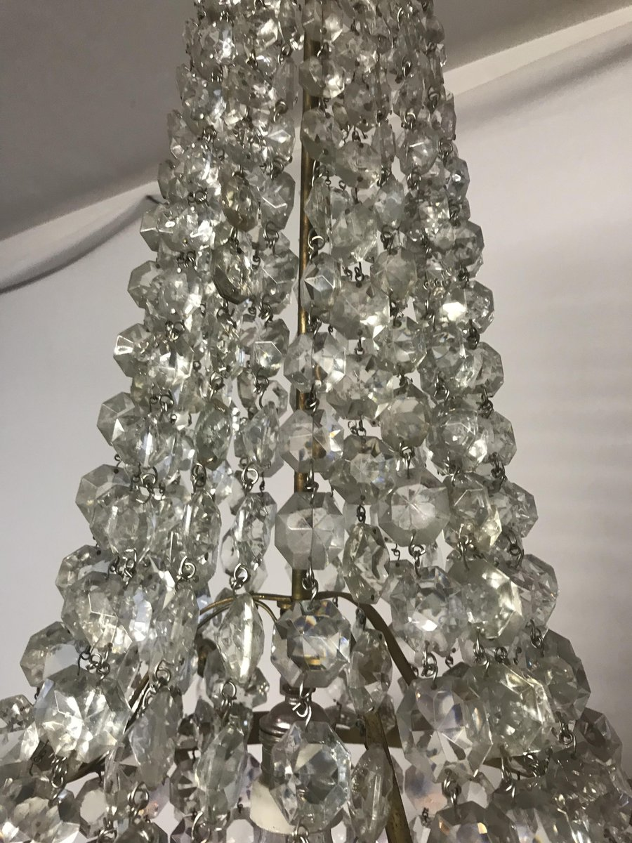 Vintage italian crystal chandelier for sale at pamono previous arubaitofo Images