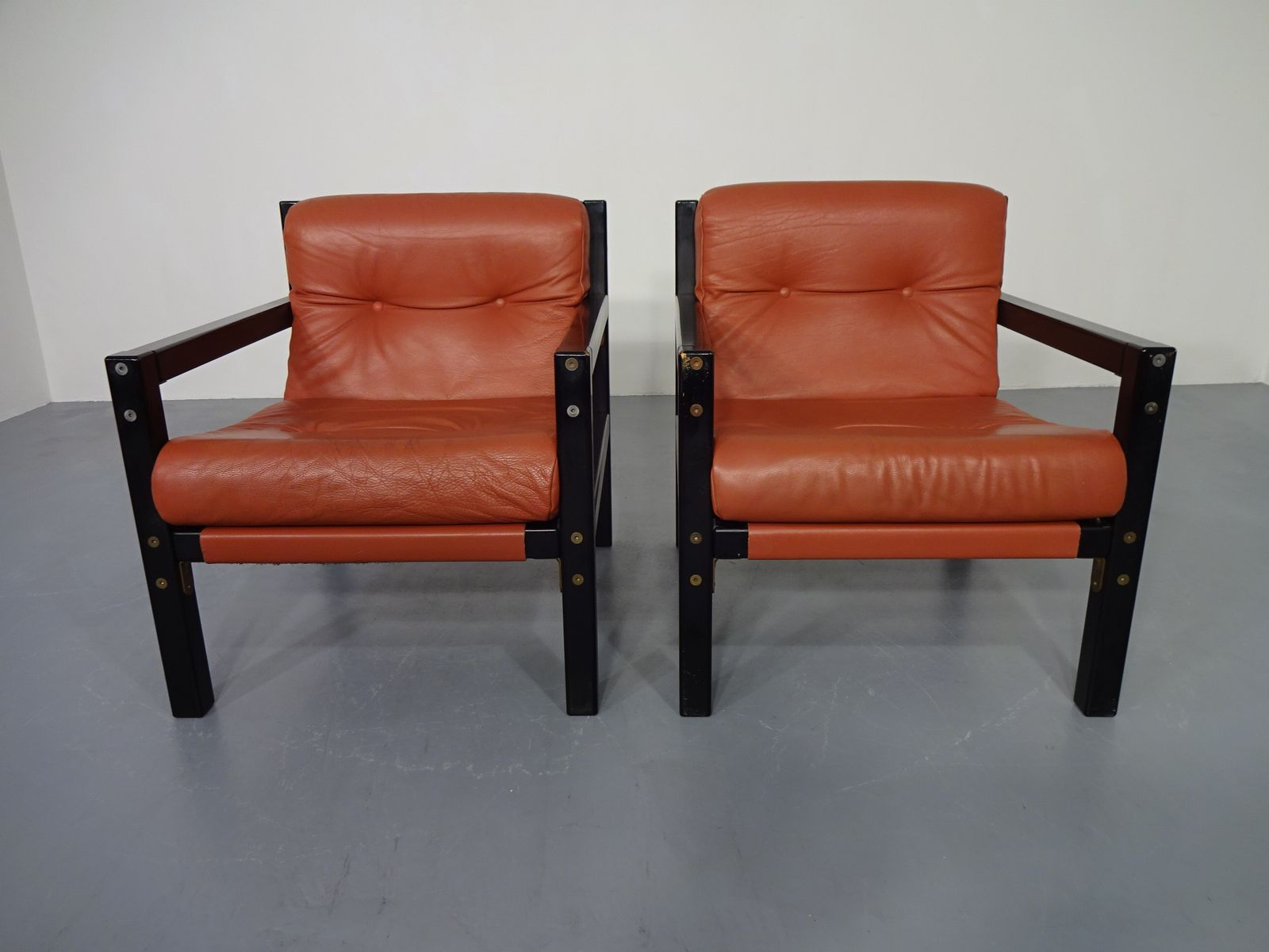 Danish Leather Armchairs, 1960s, Set Of 2