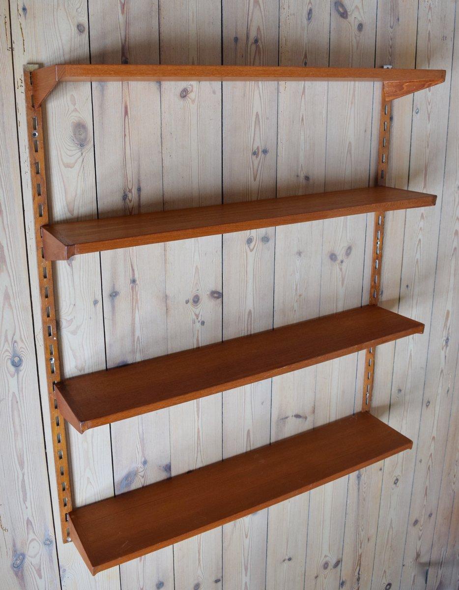 d nisches teak regal von kai kristiansen f r feldballes m belfabrik 1960er bei pamono kaufen. Black Bedroom Furniture Sets. Home Design Ideas