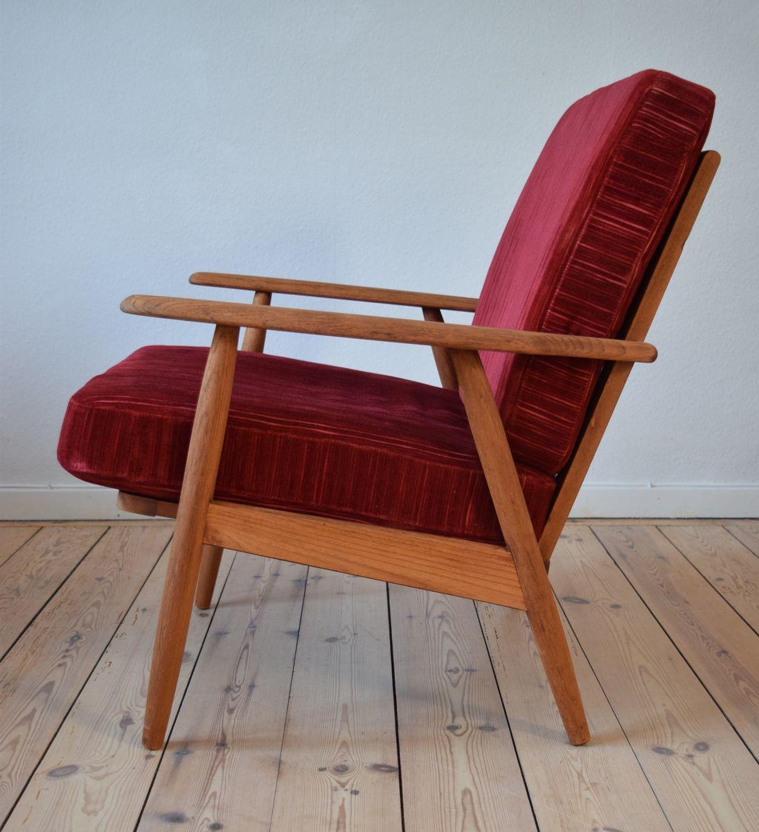 d nische teak sessel 1950er 2er set bei pamono kaufen. Black Bedroom Furniture Sets. Home Design Ideas