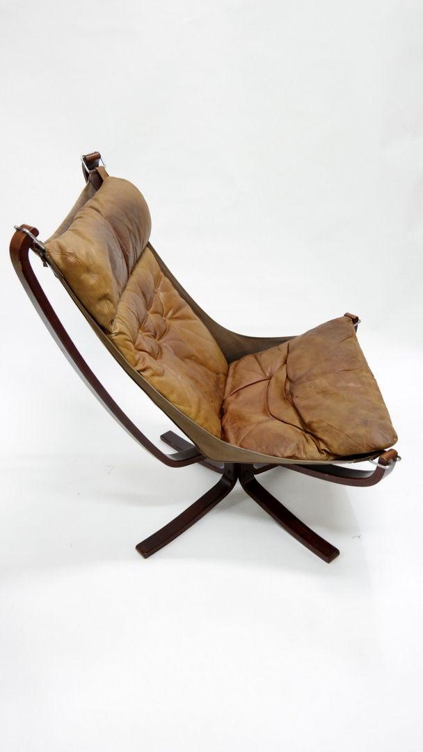 falcon stuhl mit hoher r ckenlehne von sigurd ressell f r vatne m bler 1970er bei pamono kaufen. Black Bedroom Furniture Sets. Home Design Ideas