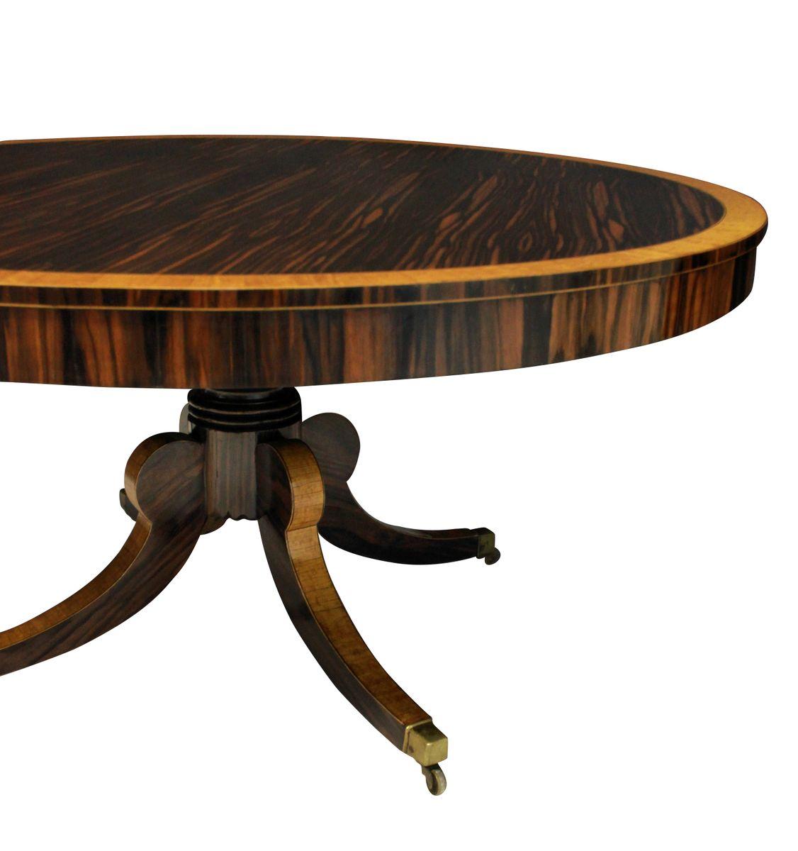 gro er englischer tisch in coromandel seidenholz 1820er bei pamono kaufen. Black Bedroom Furniture Sets. Home Design Ideas