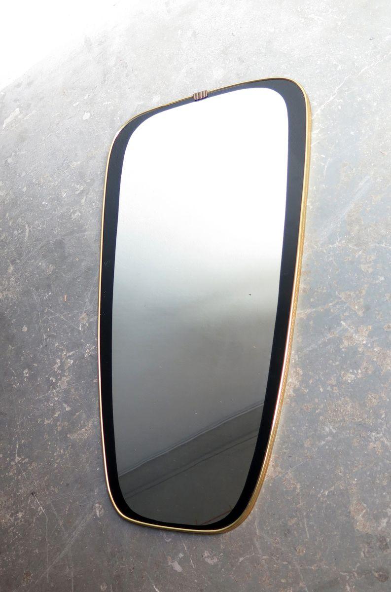 vintage spiegel rahmen in schwarz gold 1950er bei pamono kaufen. Black Bedroom Furniture Sets. Home Design Ideas