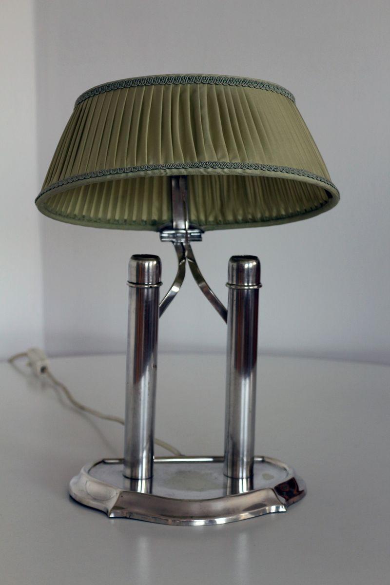antike tischlampe mit gr nem schirm 1900er bei pamono kaufen. Black Bedroom Furniture Sets. Home Design Ideas