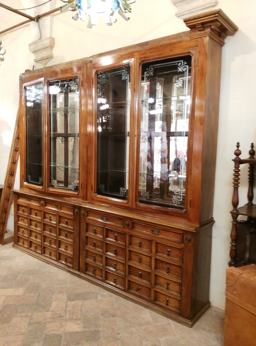 Antique Italian Pharmacy Cabinet - Antique Italian Pharmacy Cabinet For Sale At Pamono