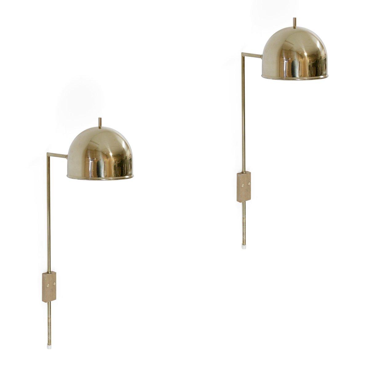Mid Century Wall Lights Uk: Mid-Century Swedish Brass Wall Light From Bergboms, 1960s