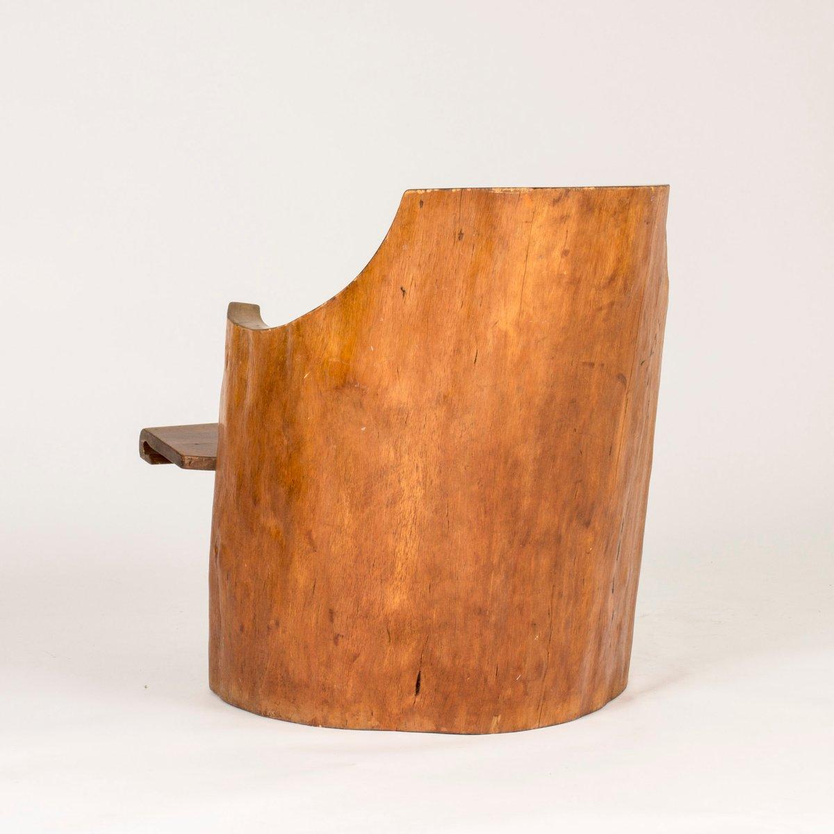 schwedischer kiefer baumstumpf armlehnstuhl 1934 bei. Black Bedroom Furniture Sets. Home Design Ideas