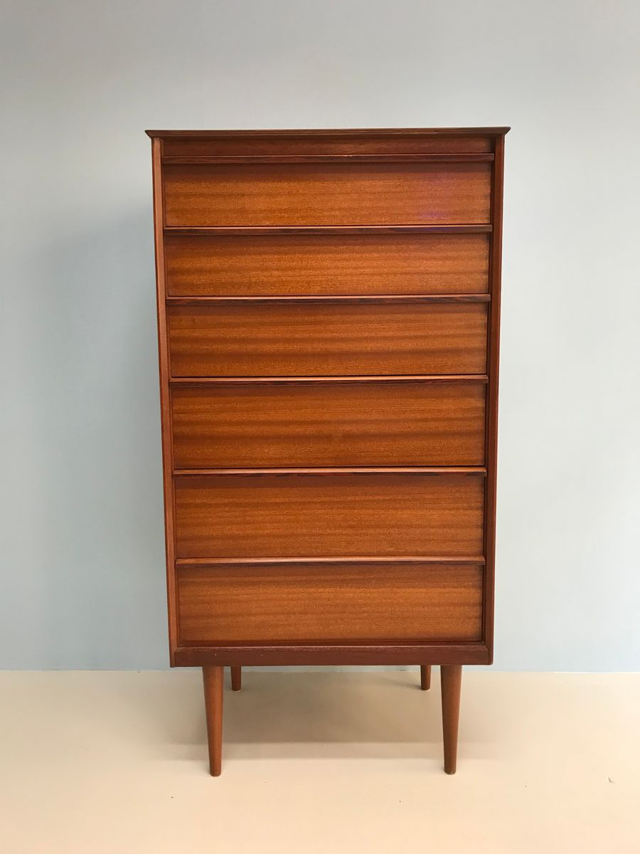 mid century teak 6 schubladen kommode von austinsuite bei. Black Bedroom Furniture Sets. Home Design Ideas