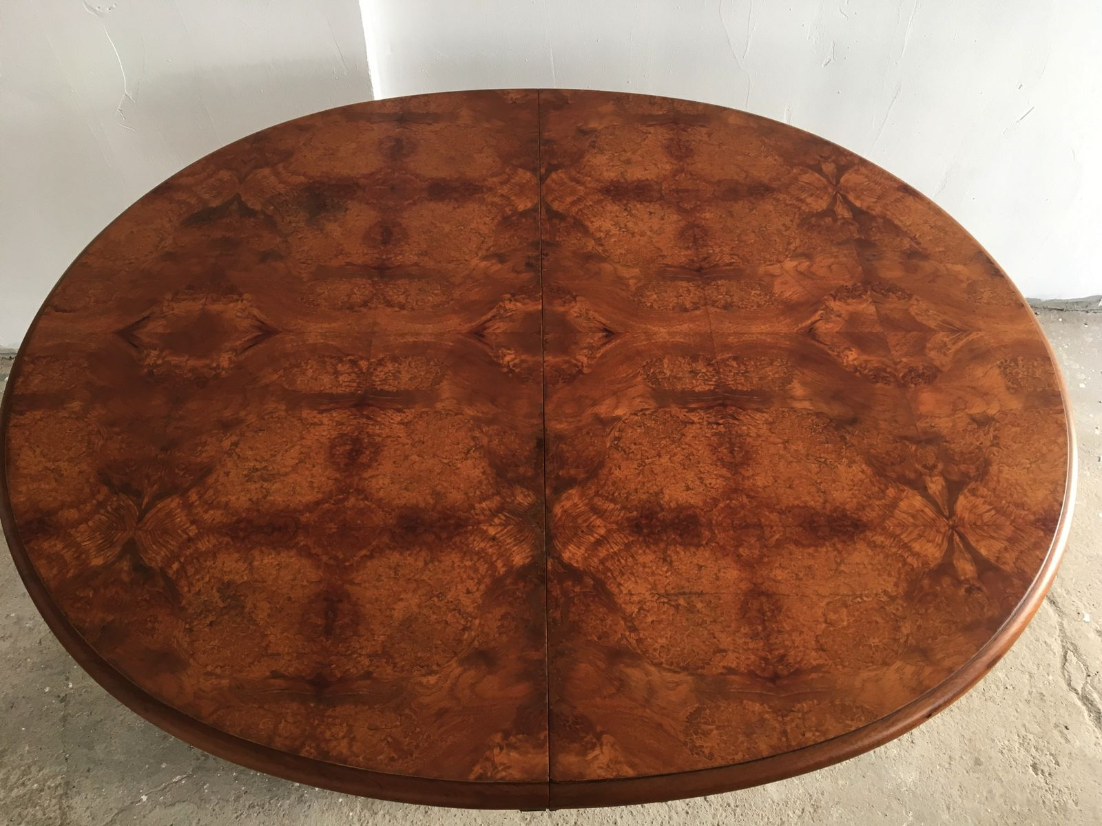Art Deco Round French Burl Walnut Amp Mahogany Dining Table