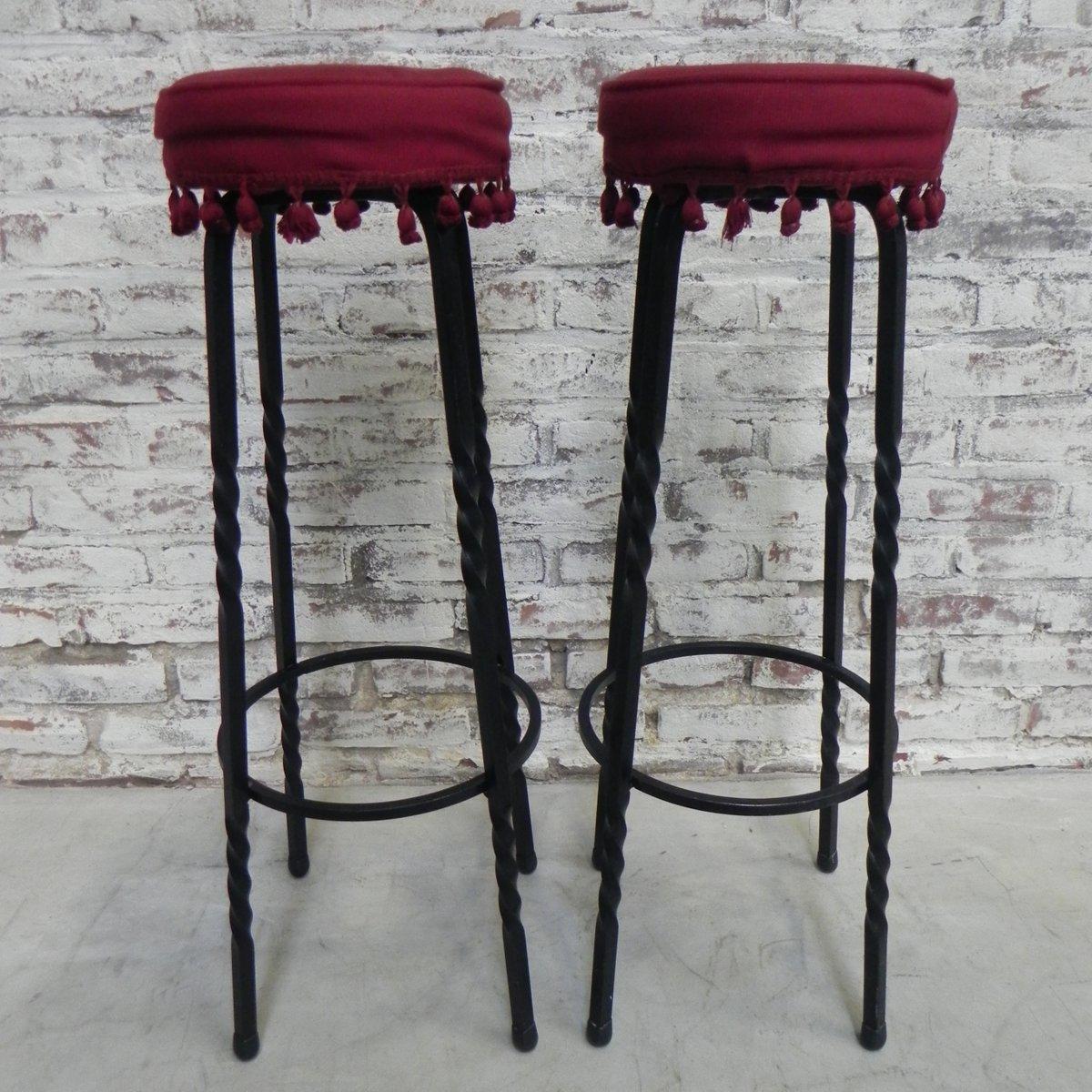 vintage barhocker 2er set bei pamono kaufen. Black Bedroom Furniture Sets. Home Design Ideas
