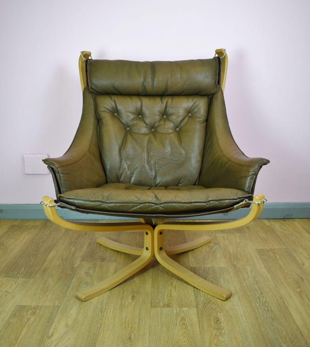 brauner d nischer leder falcon sessel von sigurd ressell f r vatne m bler 1970er bei pamono kaufen. Black Bedroom Furniture Sets. Home Design Ideas
