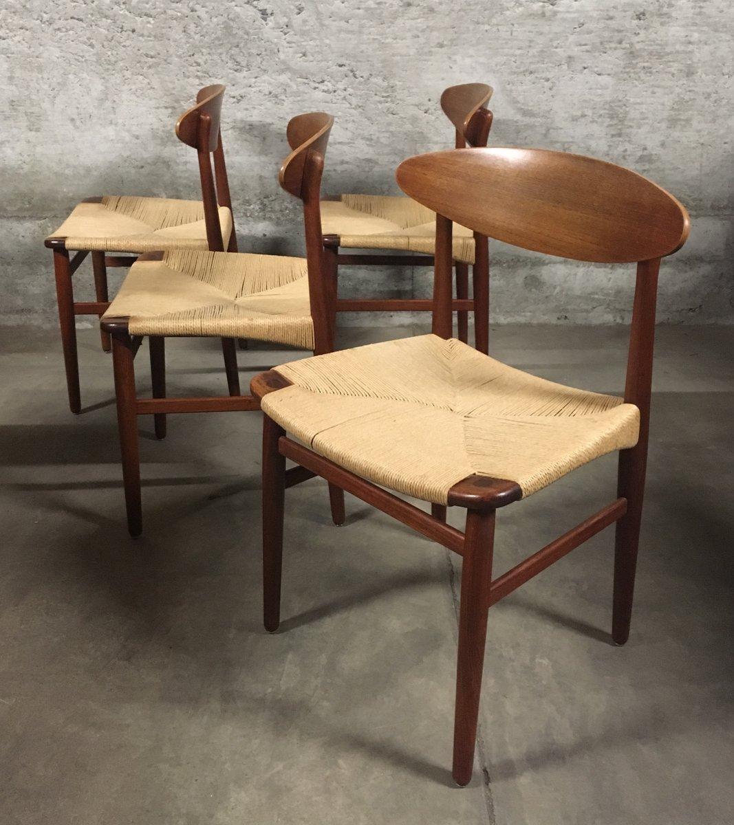 Danish Mid Century Dining Chairs By Børge Mogensen For Søborg Møbelfabrik,  1960s, Set Of 4